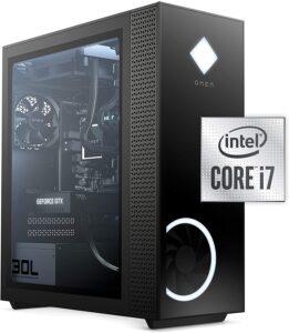OMEN 30L Gaming Desktop PC, NVIDIA GeForce RTX 3070 Graphics Card, 10th Generation Intel Core i7-10700KF Processor, 16 GB RAM, 1 TB SSD, Windows 10 Home